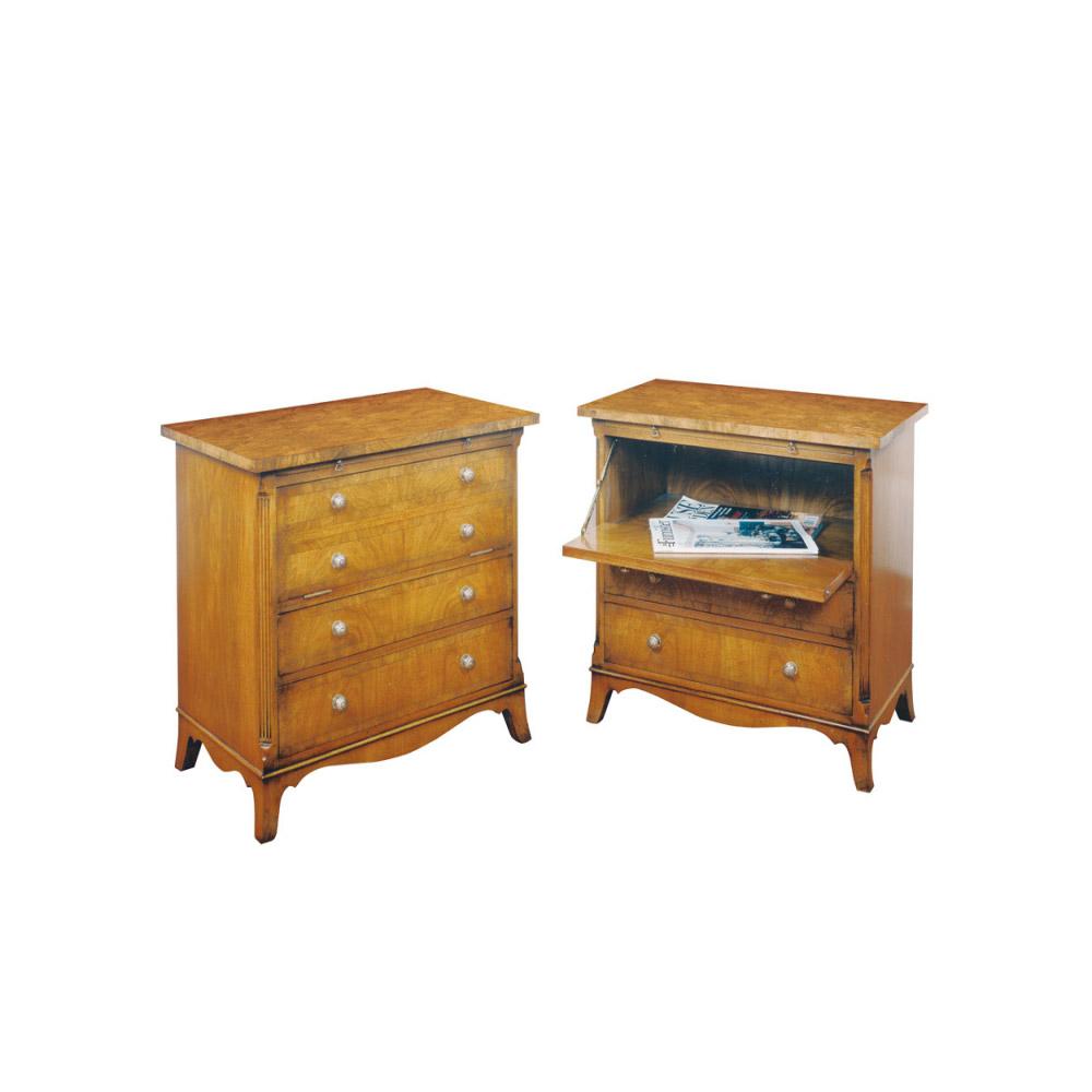Walnut Bedside Cabinet with Slide