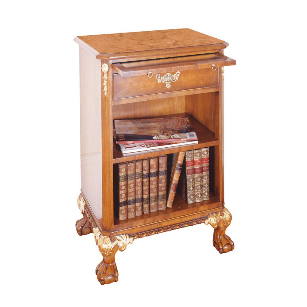 Walnut & Gilt Bedside Cabinet