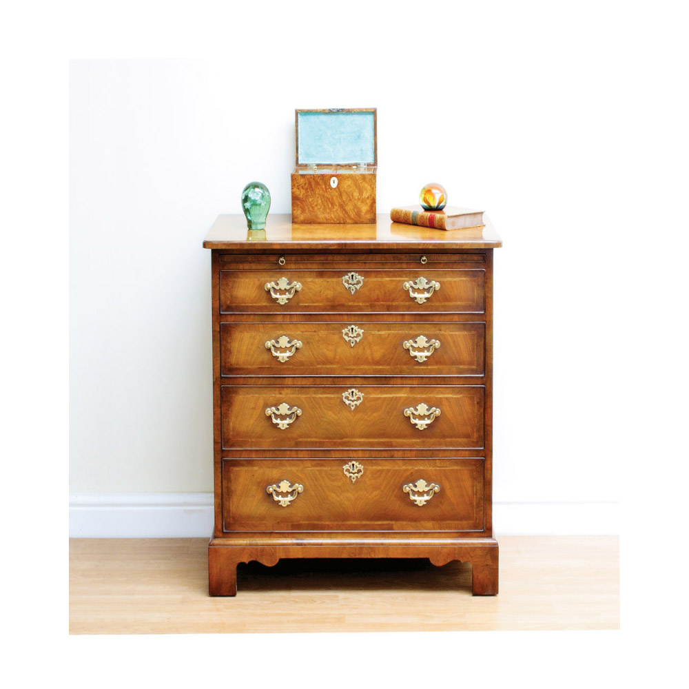 Walnut Chest of Drawers with Brushing Slide