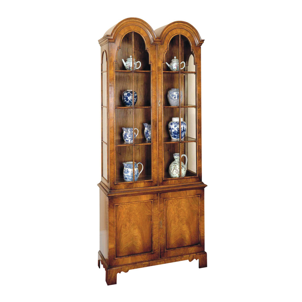 Walnut Display Cabinet