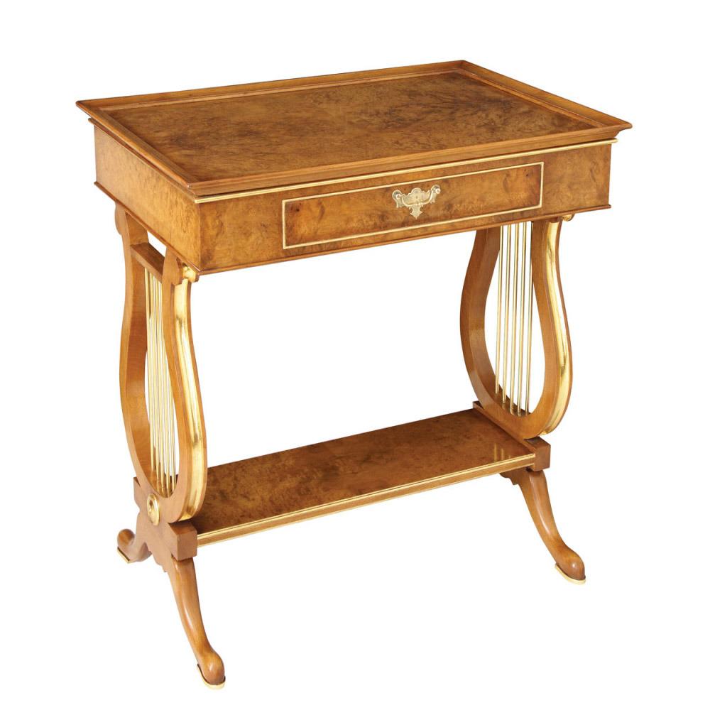 Walnut & Gilt Tray-top Table