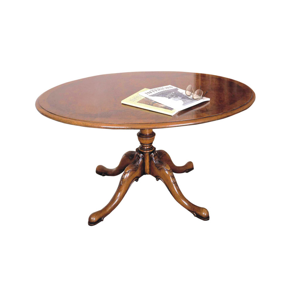 Walnut Oval Occasional Table