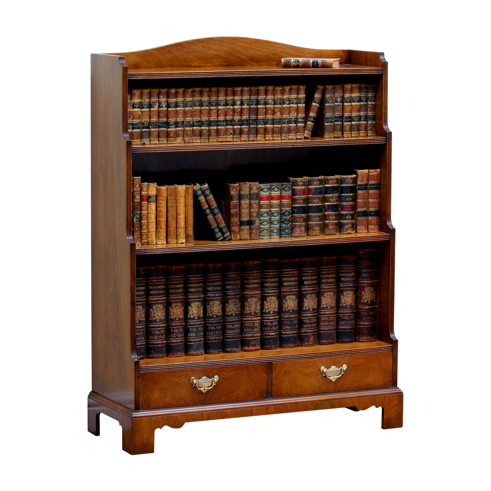 Walnut Waterfall Bookcase