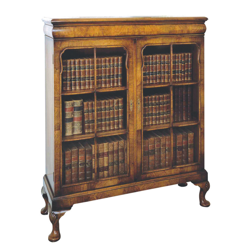 Walnut Glazed Bookcase