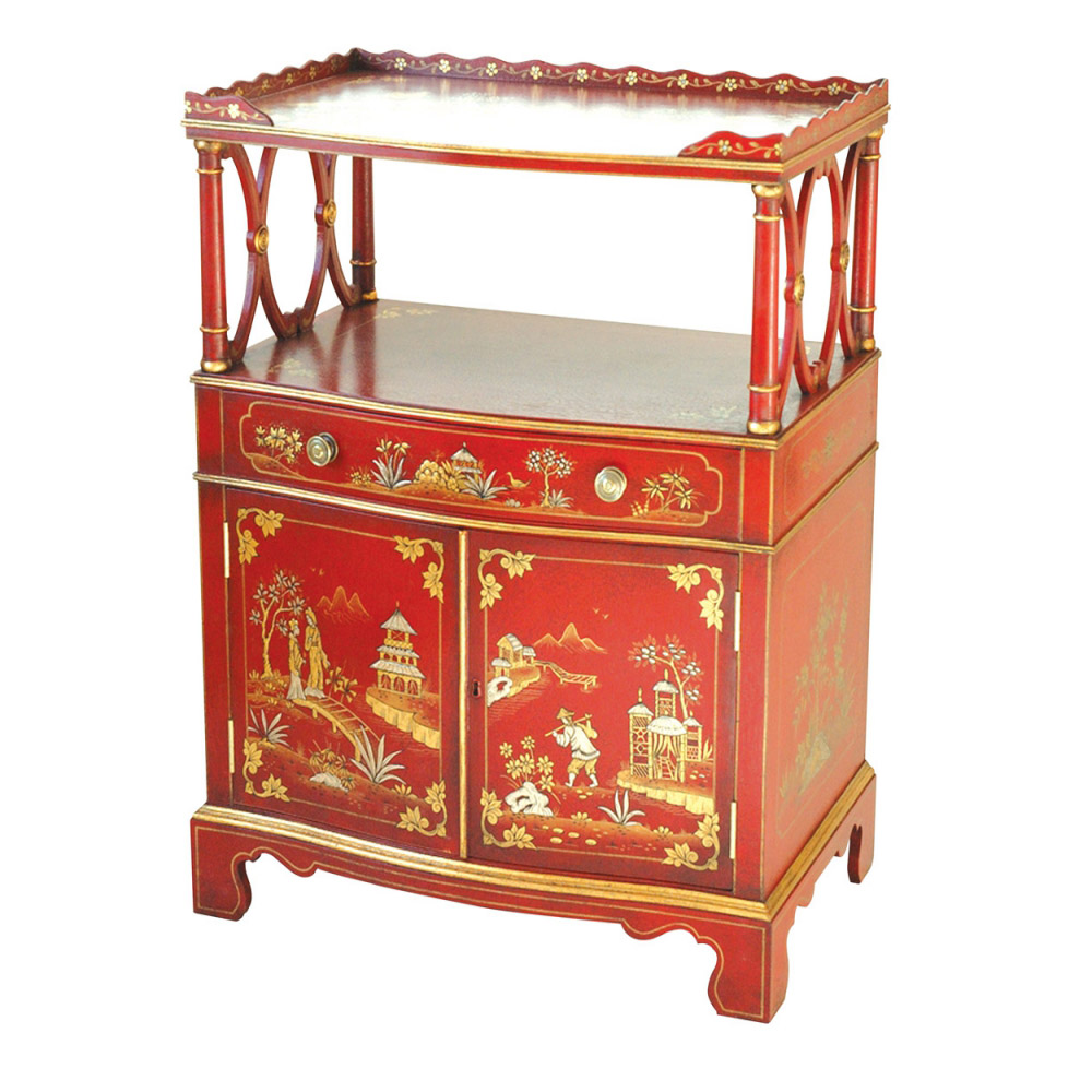 Red Lacquer Chiffonier