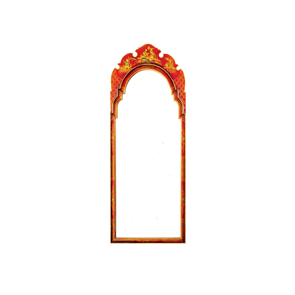 Red Lacquer Pier Mirror