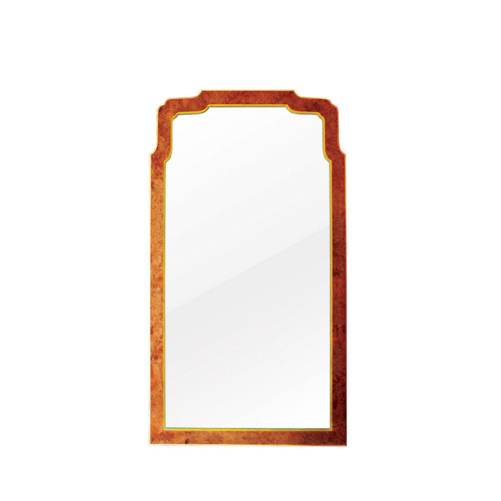 Walnut & Gilt Mirror