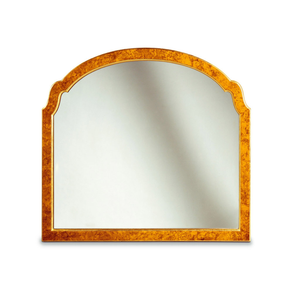 Walnut & Gilt Landscape Mirror