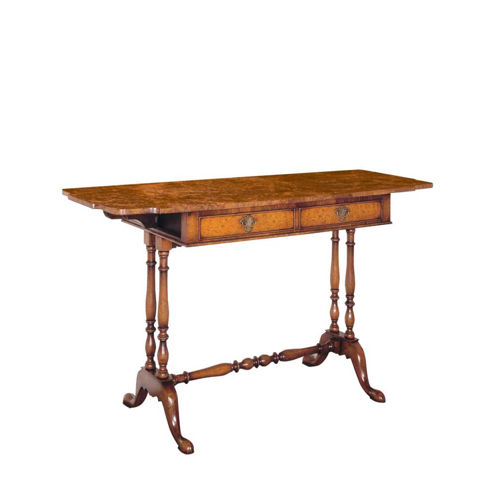 Walnut Dressing or Sofa Table
