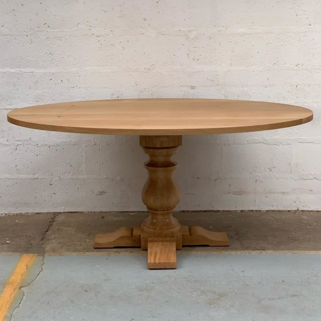 One of the bespoke designs in the workshop this week, a Oak Pedestal Table in a natural oil finish.  . . . #titchmarshandgoodwin #oakfurniture #pedestaltable #handcraftedfurniture #customfurniture #madeinsuffolk #ipswich