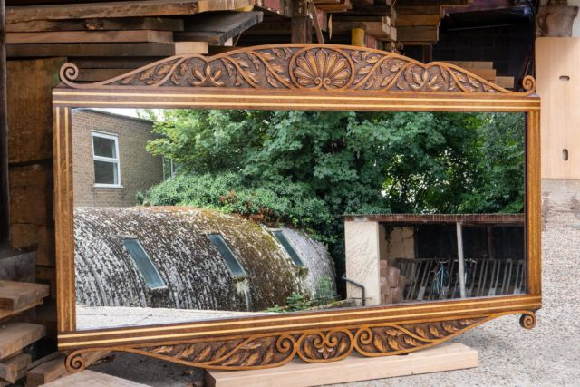 Brightening the start of this week is this majestic hand carved oak mirror, highlighted with brass inlay and beautifully detailed classic carving.   We love working with clients on bespoke designs, so if you have an idea for a project please don't hesitate to contact us.