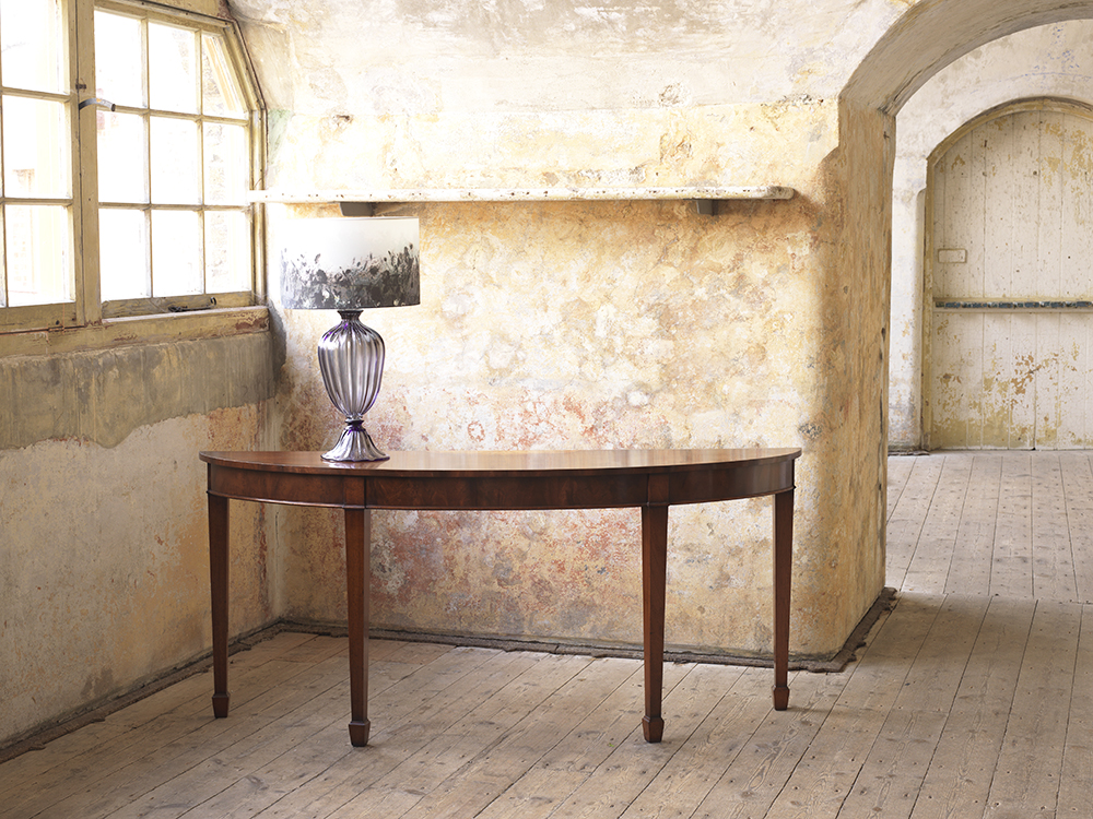 handmade mahogany side table
